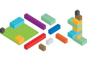Isometric Blocks vector