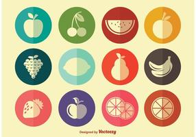 Simple Fruit Icons vector