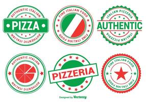 Insignias de pizza italiana