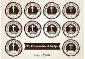 Dix Commandements Badges