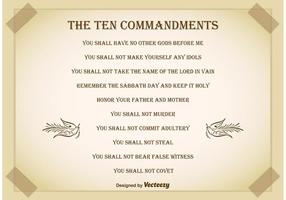 Ten Commandments Background vector