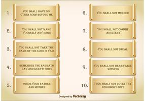 Ten Commandments vector