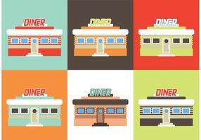 Restaurante de jantar vetor