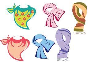 Vecteurs multicolores d'écharpe de cou