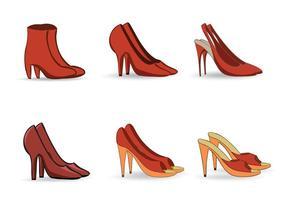 Vectores libres de zapatos femeninos