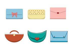 Free Female Handbag Set vector
