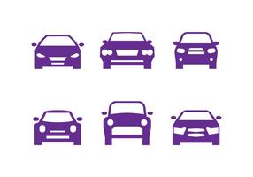 Purple Car Front Silhouettes vector
