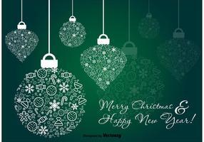 Verde Adorno De Navidad Vector