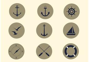 Gratis Vector Nautical Icon Set