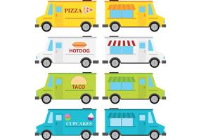 Vetores de caminhão de comida
