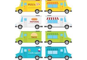 Vectores del carro de la comida