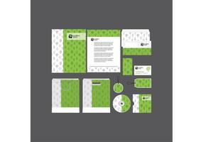 Green Unternehmensprofil Vorlage Vektor