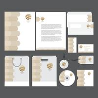 Modern Company Profile Template vector