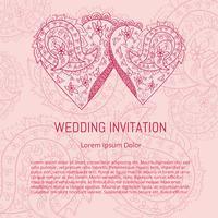 Vector de cartão de casamento indiano