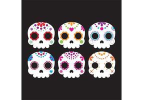 Vectores decorativos del cráneo del azúcar