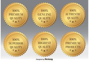 Gold Premium Qualität Abzeichen