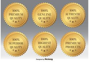 Guld premium kvalitet märken