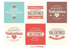 Cute Mini Valentines Day Tarjetas vector
