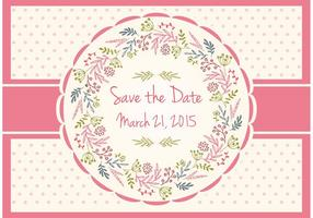 Save The Date Floral Card vector