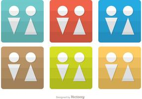 Minimale rest kamer iconen vector pack