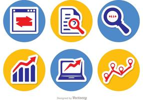 Big Data Circle Icons Vector Pack