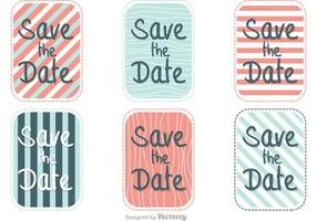 Gestreepte Save The Date Vector Pack