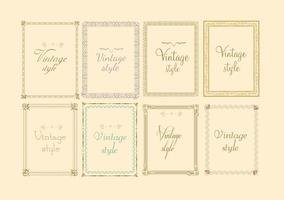 Decorative Vintage Frame Vectors