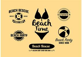 Vector Summer Signs