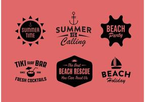 Emblemas de verão vetoriais