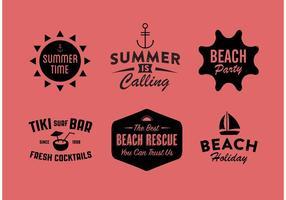 Vector Summer Badges