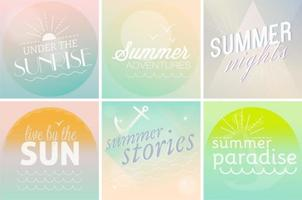 Pastel Summer Time Backgrounds