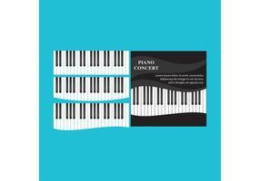 Vecteurs de piano ondulé