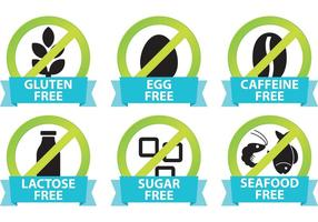 Food Allergy Icons  vector