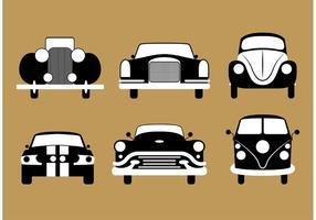 Vectores del coche de la vendimia