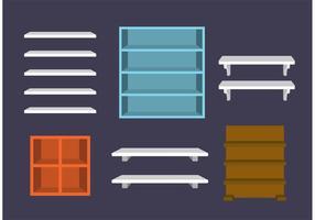 3d vectores de los estantes