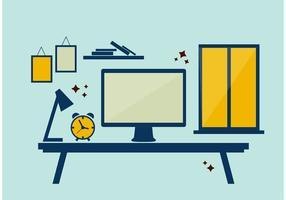 Elementos de vectores de escritorio