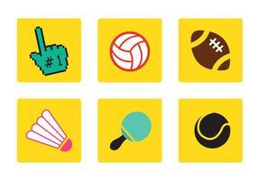 Vecteurs d'icônes sportives vecteur
