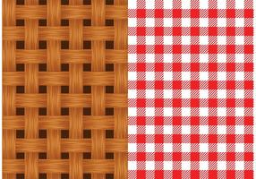 Gratis Vector Old Wicker Basket Texture
