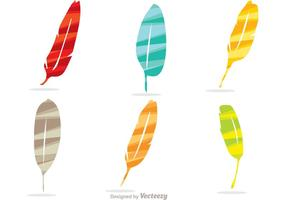 Colorful Stripe Feather Icons Vector Pack
