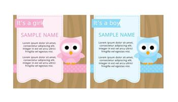 Cute Baby Shower Tarjetas