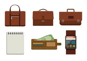 Briefcases and Accessory Vectors
