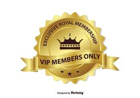 Exclusive VIP Membership Badge vector