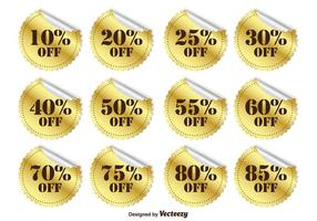 Gold Promotional Discount Stickers