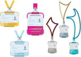 Identification Card Templates vector