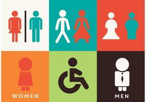 Toilettenzeichen Vektoren