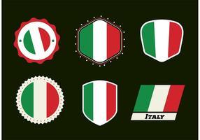 Vectores de la insignia italiana