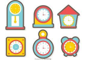 Klok En Tijd Vector Pakket