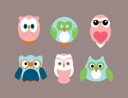 Baby Shower Owl Vectors