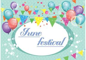 June Festival Vector Background