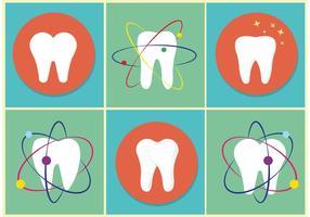 Icônes des dents de vecteur